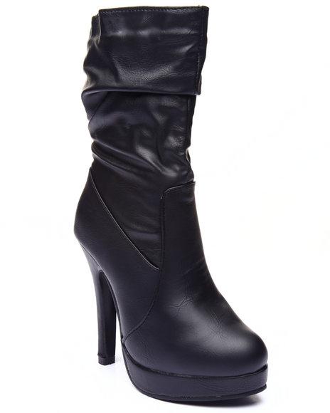 Basic Essentials - Women Black Dallas Heel Boot