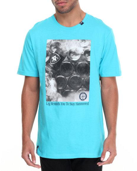 Lrg Men Stay Hammered T-Shirt Blue X-Large