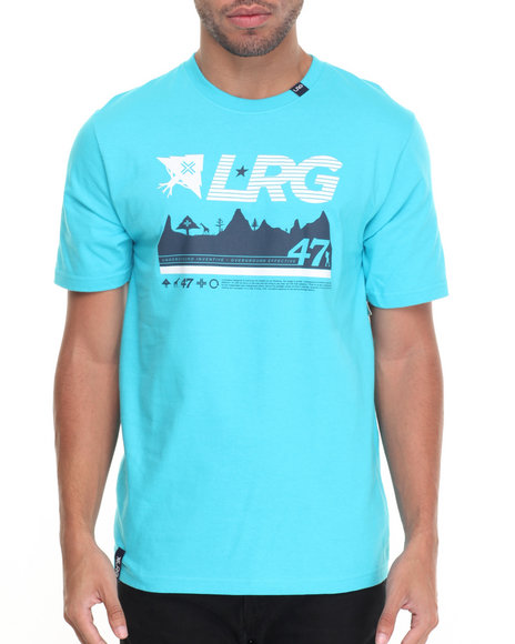 Lrg Men 47Th Expedition T-Shirt Blue Medium
