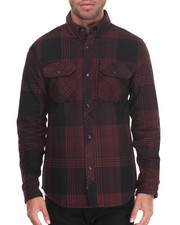 Shirts - Town Flannel Nano Coat Water Repellent L/S Button-down