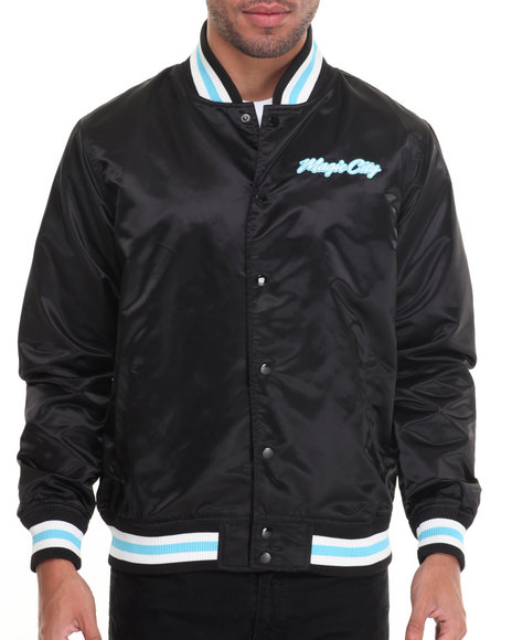 Lrg - Men Black Magic City Satin Jacket