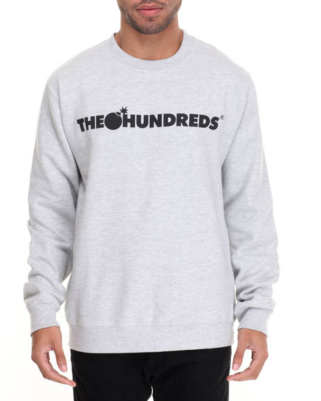 The Hundreds - Men Light Grey Forever Bar Crewneck Sweatshirt