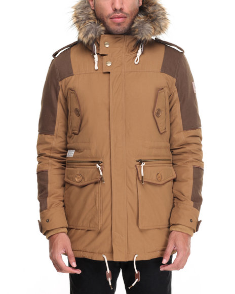 Two Angle Clothing - Men Khaki Shiro Parka Jacket