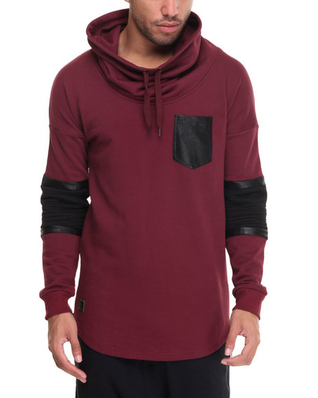 Black Kaviar - Men Red Black Kaviar Hooded Sweatshirt