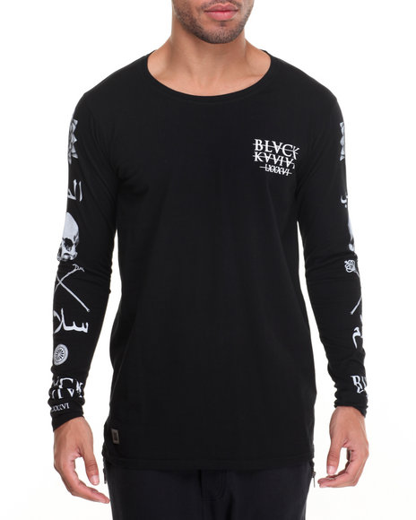 Black Kaviar Men All Saints LS TShirt Black Medium