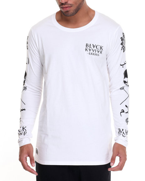 Black Kaviar Men All Saints LS TShirt White XXLarge