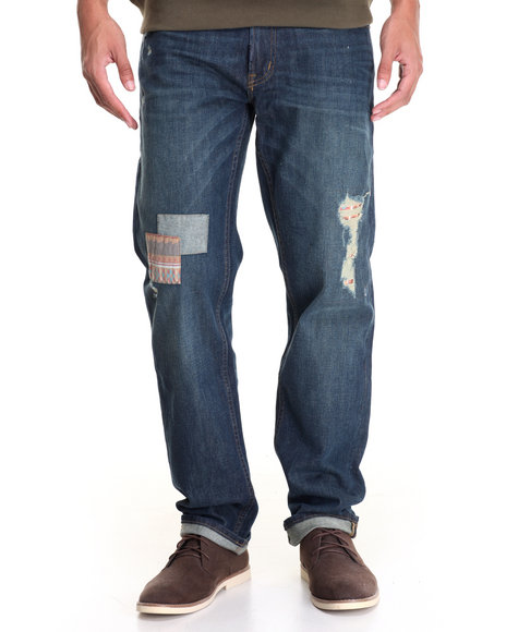 Lrg Men Nomadic Addict Denim Jean Medium Wash 36