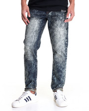 Men - MARBLE ACID WASH CLASSIC DENIM JEANS