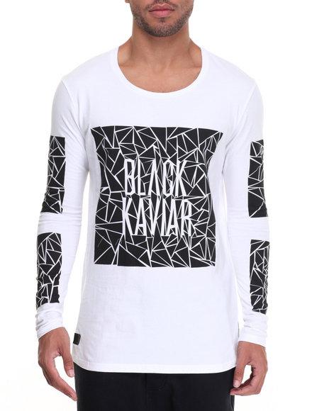 Black Kaviar - Men White Anamed L/S T-Shirt - $32.99