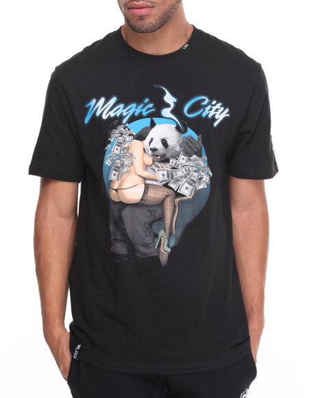 Lrg - Men Black Magic City T-Shirt - $32.00