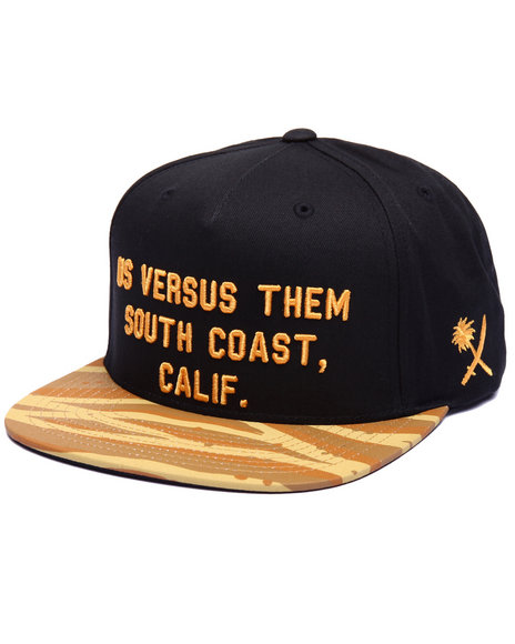 Us Versus Them Men Southwest Snapback Cap Black