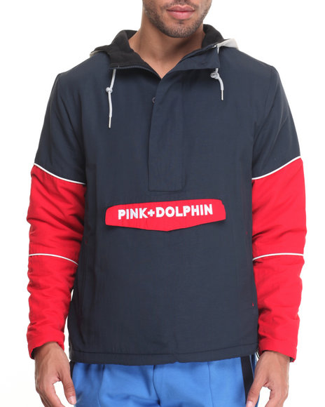 Pink Dolphin Men O G Script Nylon Anorak Navy XLarge