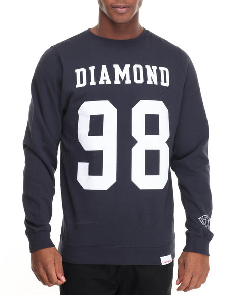 Diamond Supply Co - Men Navy Nine Eight Crew Sweatshirt