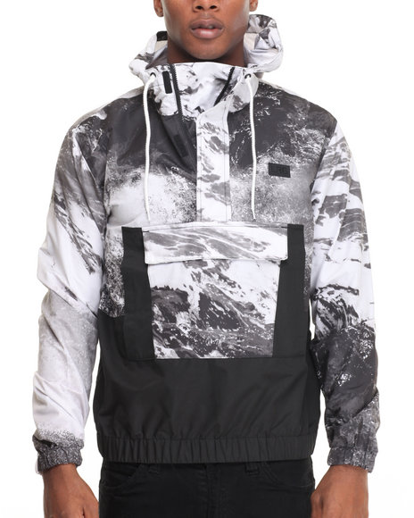 Lrg - Men Black Barrel Anorack Jacket