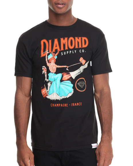 Diamond Supply Co Men Champagne France Tee Black Medium