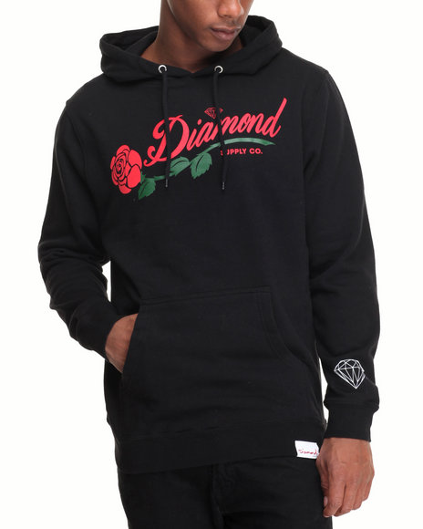 Diamond Supply Co - Men Black La Rosa Hoodie