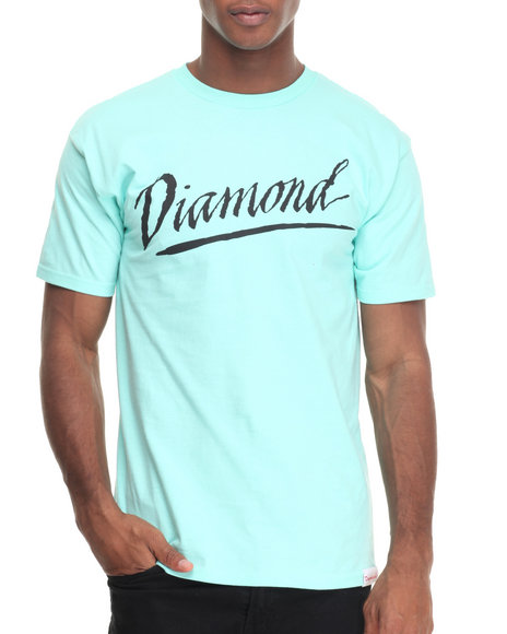Diamond Supply Co - Men Teal Jagged Script Tee