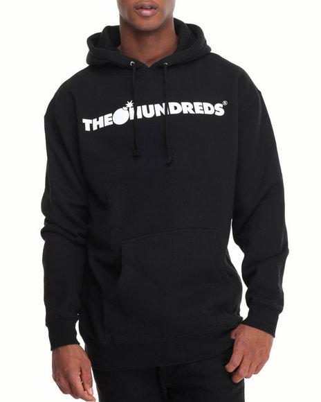 The Hundreds - Men Black Forever Bar Pullover Hoodie