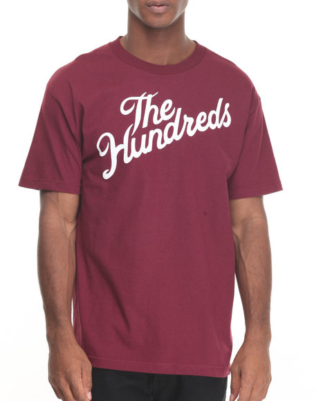 The Hundreds - Men Maroon Forever Slant Tee