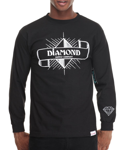 Diamond Supply Co Men Desert Nights L/S Tee Black XX-Large