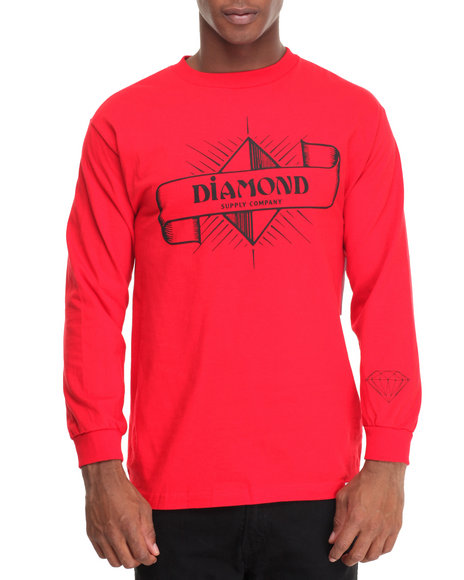 Diamond Supply Co Men Desert Nights L/S Tee Red XX-Large