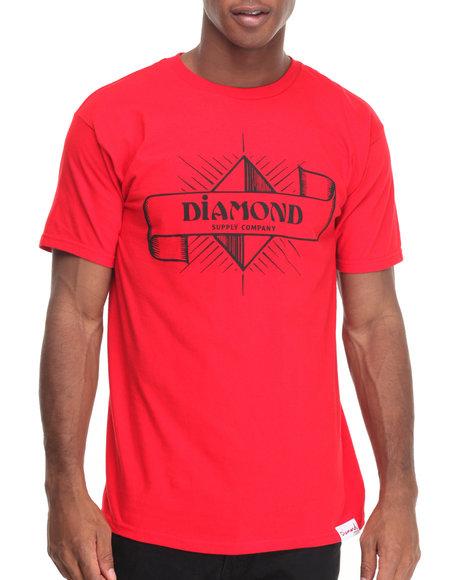 Diamond Supply Co Men Desert Nights Tee Red X-Large