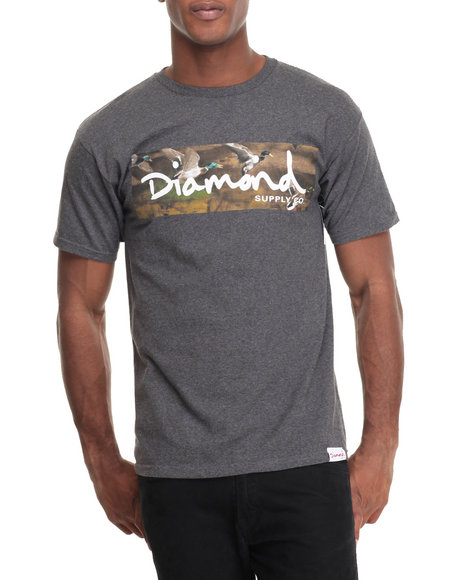 Diamond Supply Co Men Woodland Tee Grey Medium