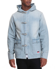 Men - Denim Peacoat