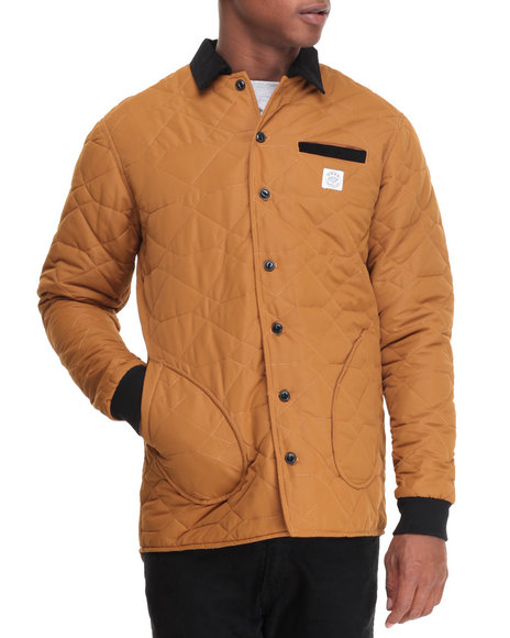 Diamond Supply Co Men Field Jacket Gold Medium
