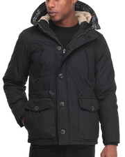 Men - Waxed Hooded Parka Jacket
