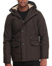 Steve Madden - Waxed Hooded Parka Jacket