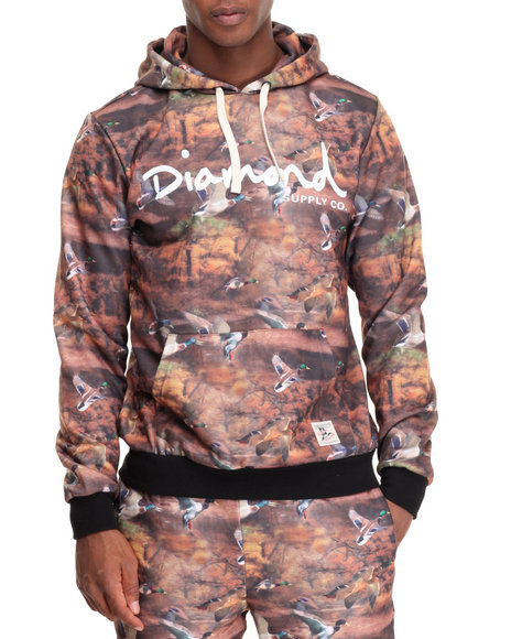 Diamond Supply Co - Men Brown Woodland Hoodie - $65.99
