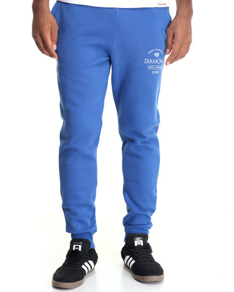 Diamond Supply Co - Men Blue Craftsman Sweatpants - $54.99