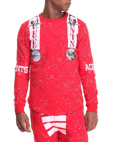 Buyers Picks Men Free Agents Creator Crewneck Sweatshirt Red XX-Large