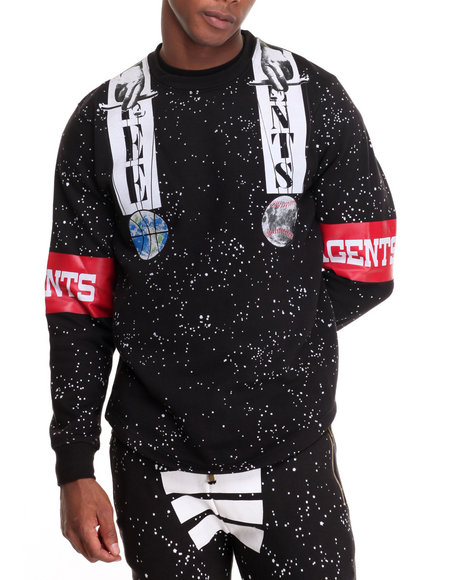 Buyers Picks Men Free Agents Creator Crewneck Sweatshirt Black XX-Large