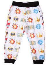 Boys - EMOJI ALLOVER PRINT JOGGER (4-7)