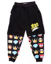 Boys - EMOJI COMPRESSION SHORT JOGGERS (8-20)