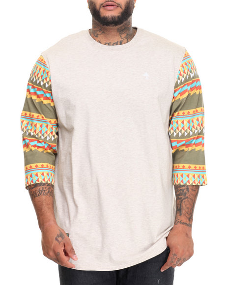 Lrg Men Nomadic Baseball T-Shirt (B&T) Cream 3X-Large