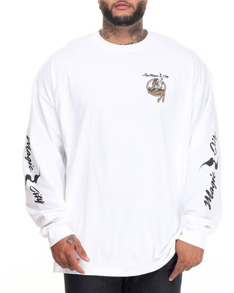 Lrg Men Magic City L/S T-Shirt (B&T) White 3X-Large