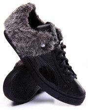 Sneakers - 50/50 Suede Faux Fur Sneakers