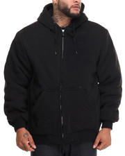 Basic Essentials - Heavyweight Quilted Thermal - Lined Fleece Hoodie (B&T)