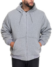 Men - Heavyweight Quilted Thermal - Lined Fleece Hoodie (B&T)