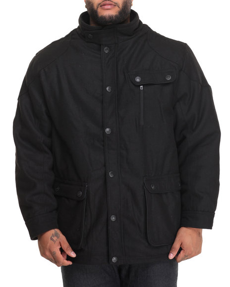 Buyers Picks - Men Black Trailblazer 3/4 Diamond - Quilt Lined Jacket (B&T)