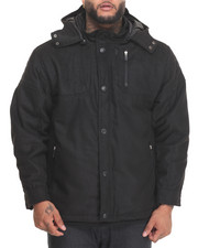 Outerwear - Biker Shop Wool Moto - Style Jacket (B&T)