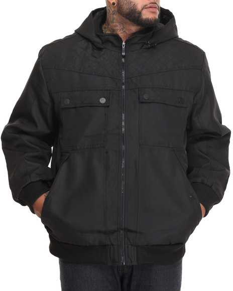 Buyers Picks - Men Black Cranework Lined Ballistic Nylon Jacket
