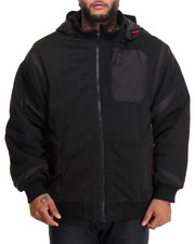 Outerwear - Distance Ballistic Nylon - Trimmed Lined Fleece Jacket (B&T)