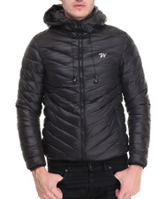Men - Hoody Padding Jacket w/ Headphones