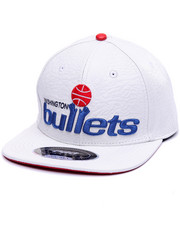 Strapback - WASHINGTON BULLETS RETRO PREMIUM LEATHER STRAPBACK CAP