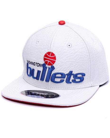 Pro Standard Men Washington Bullets Retro Premium Leather Strapback White