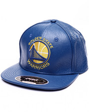 Men - WARRIORS TEAM LOGO PREMIUM LEATHER STRAPBACK CAP